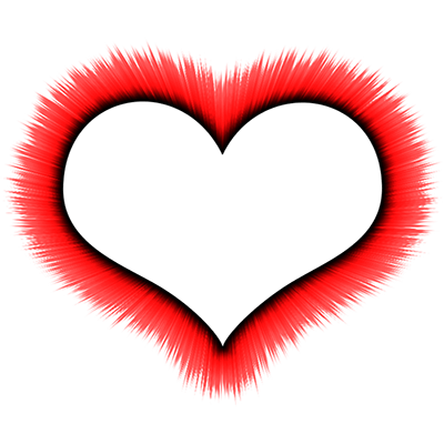400x400 Heart Outline Red Drawing Transparent Png