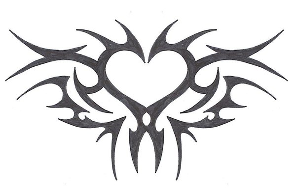 600x383 Tribal Heart By Mybeautifulsickness