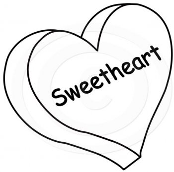 Heart Outline Clipart Black And White