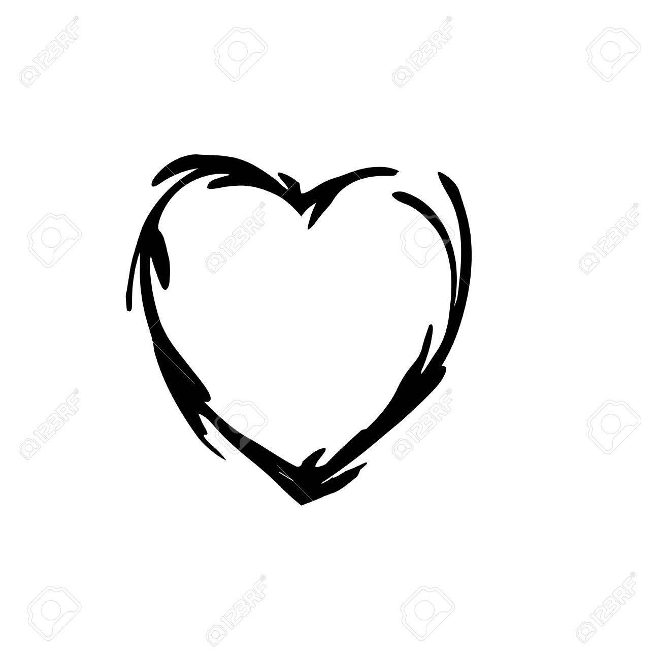 1300x1300 Heart Shape Symbol Love Vector Black. Heart Symbol Wedding