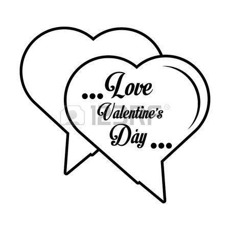 450x450 Love Parchment Message Heart Outline Vector Illustration Eps