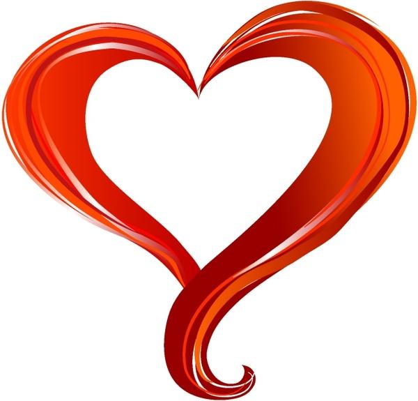 600x575 Red Heart Free Vector In Adobe Illustrator Ai ( Ai