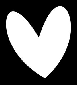 270x298 Slant Black Heart Outline Clip Art