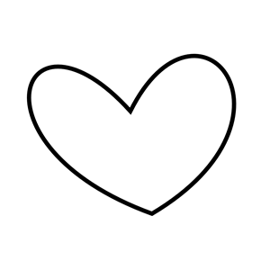 300x300 Slant Heart Outline Clipart, Cliparts Of Slant Heart Outline Free