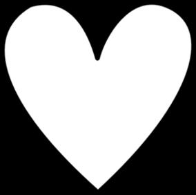284x282 Vector Heart Outline Clipart