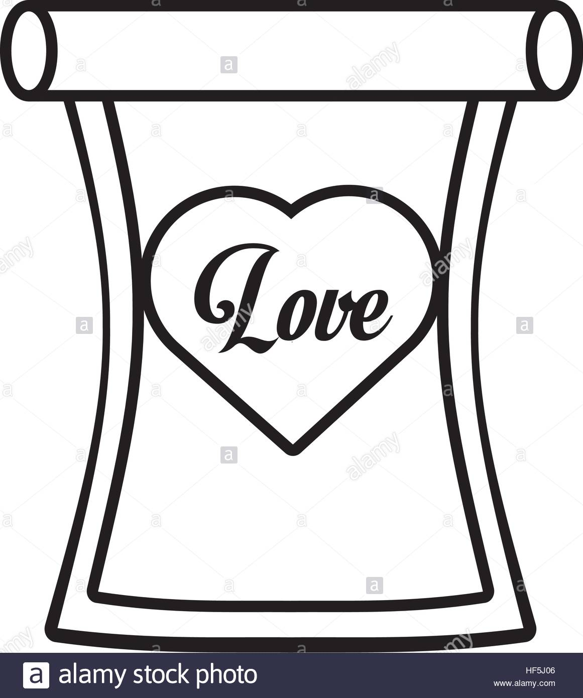 1161x1390 Love Parchment Message Heart Outline Vector Illustration Eps 10