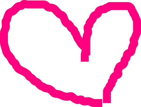 600x454 Graphics For Pink Heart Outline Graphics