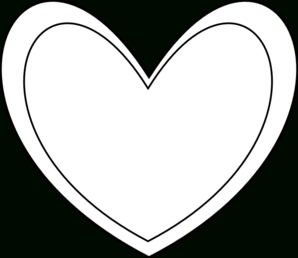 298x258 Hd With Hearts In Outline Double Heart Clipart Black And White