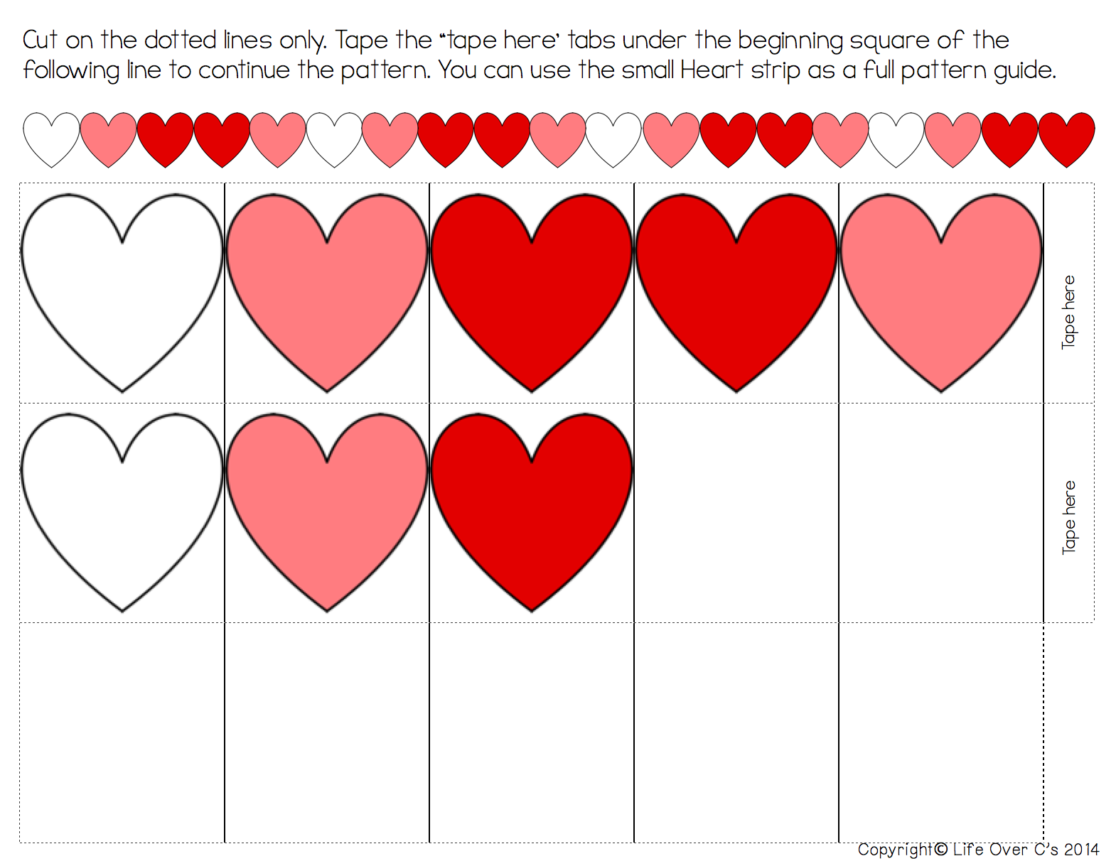 1570x1212 Heart Pattern Free Printable For Valentine's Day