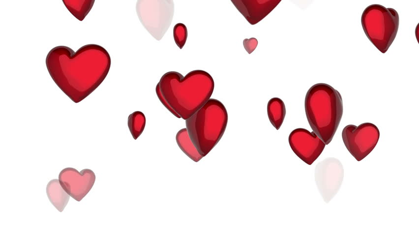 852x480 Hearts Hd Loop Valentines Day Motion Background Video In 720p