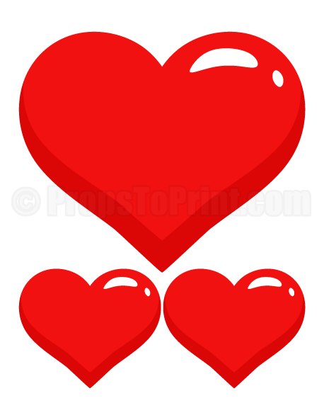 458x593 Printable Heart Photo Booth Prop. Great For Valentine's Day Photo
