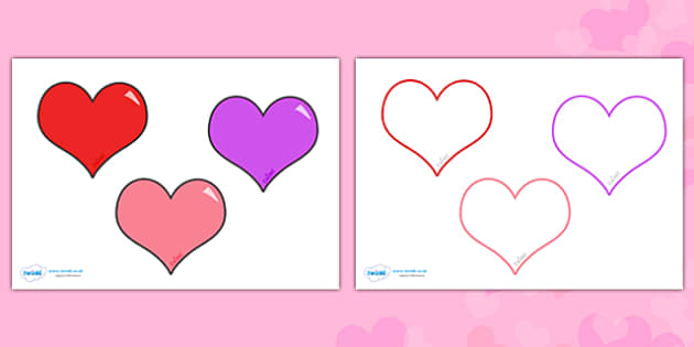 630x315 Valentine's Day Editable Heart Template