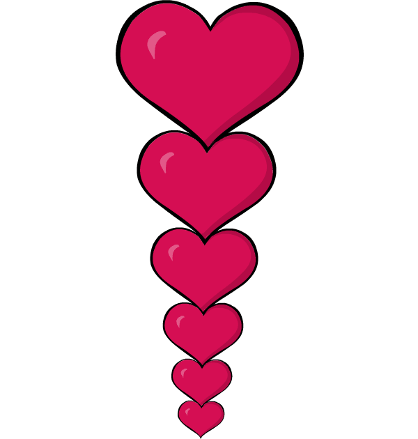 600x630 Valentines Day Hearts Clipart Transparent