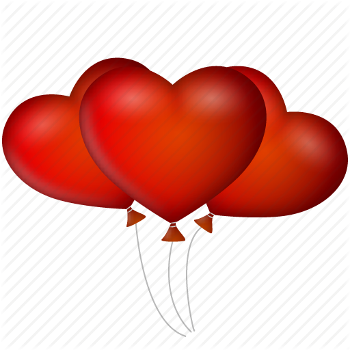 512x512 Balloons, Date, Event, Heart, Hearts, Like, Love, Valentine's Day
