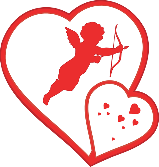 525x550 Cupid Clipart Valentine's Day