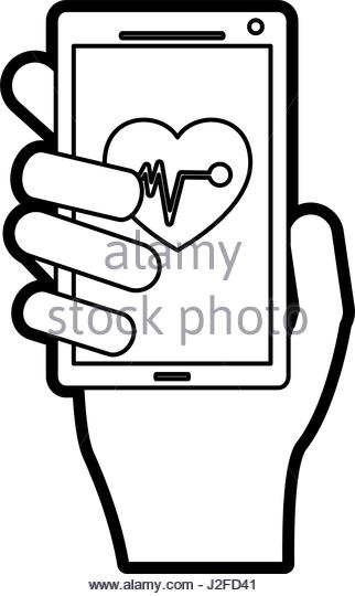 322x540 Mobile Heart Rate Monitor Icon Stock Photos Amp Mobile Heart Rate