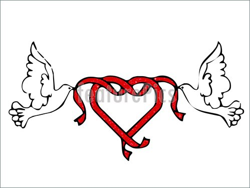 499x375 Doves And Hearts Clipart