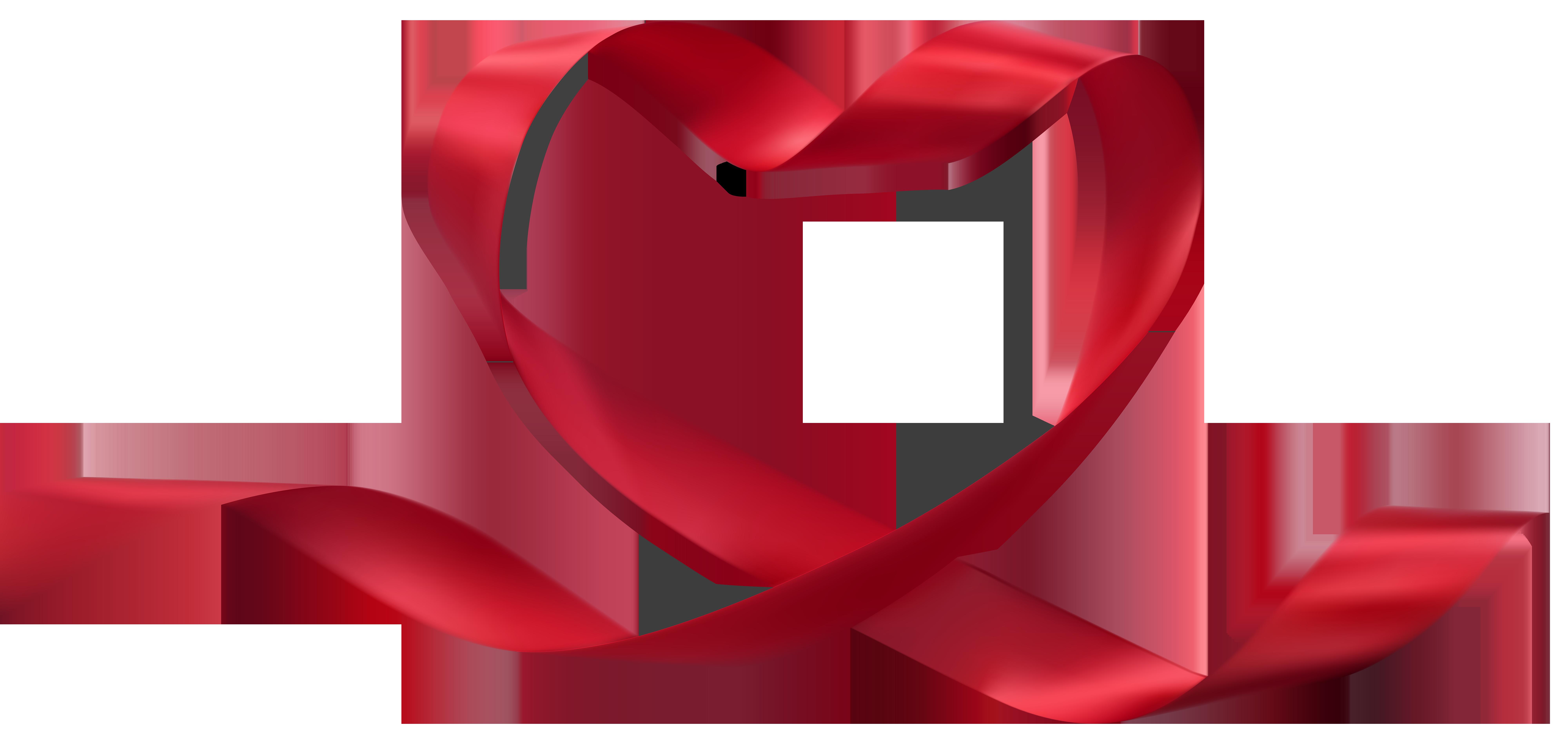 8000x3757 Heart Ribbon Transparent Png Clip Art Imageu200b Gallery