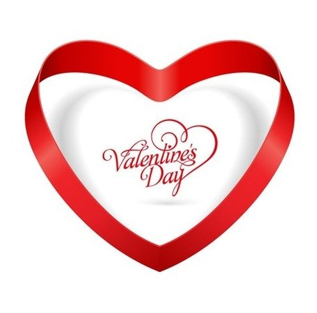 456x450 Heart Ribbon Valentines Day, Vector Graphics
