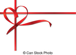264x194 Red String Bow Clipart