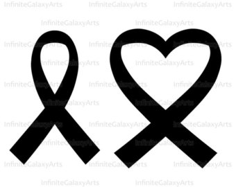 340x270 Cancer Ribbon Heart Clipart