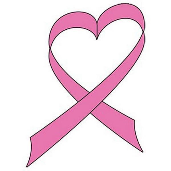 600x600 Cancer Ribbon Heart Clipart