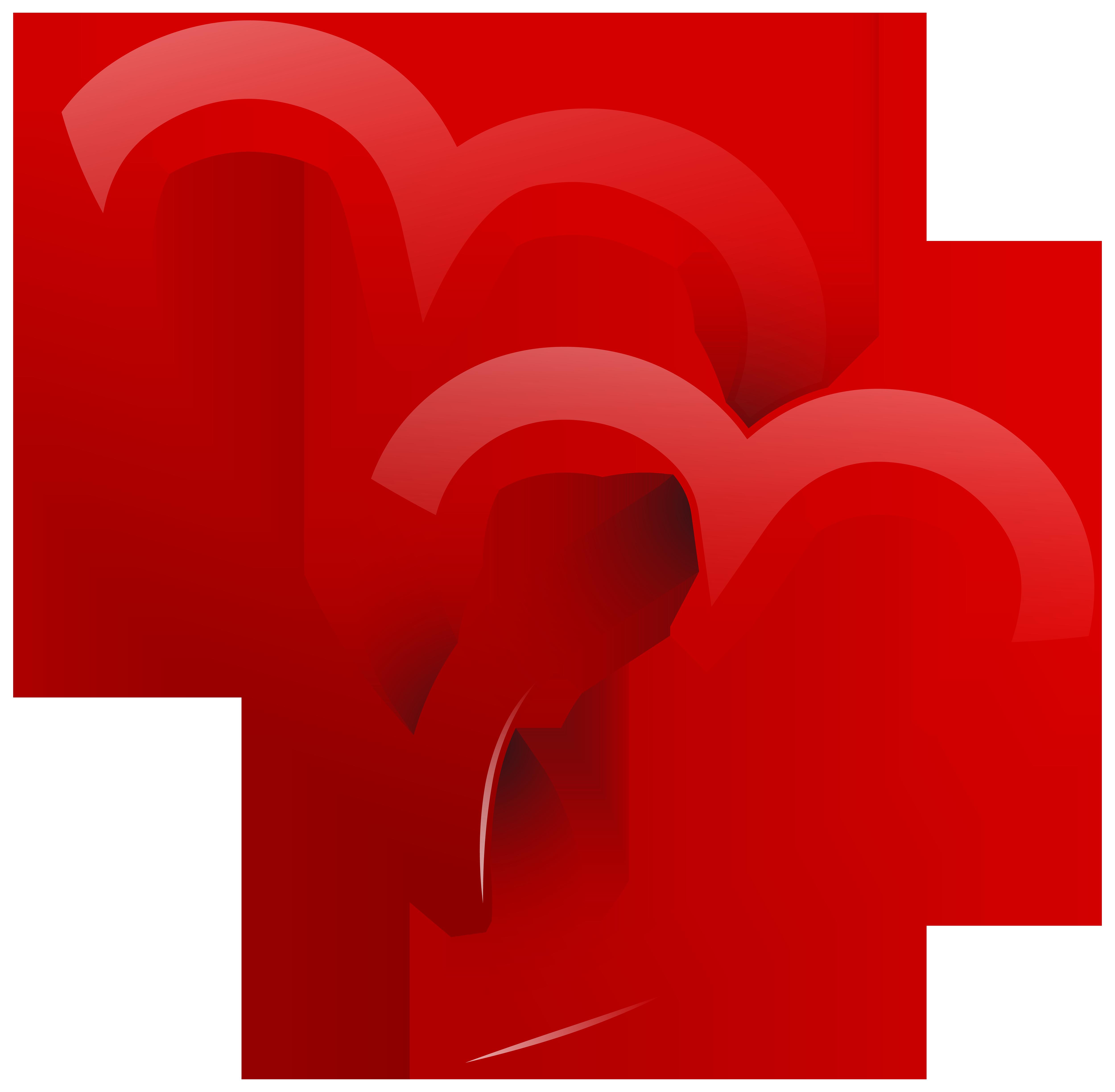 5000x4899 Clip Art Heart Ribbon Clip Art