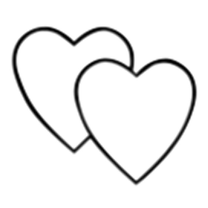 700x700 Clipart Double Heart