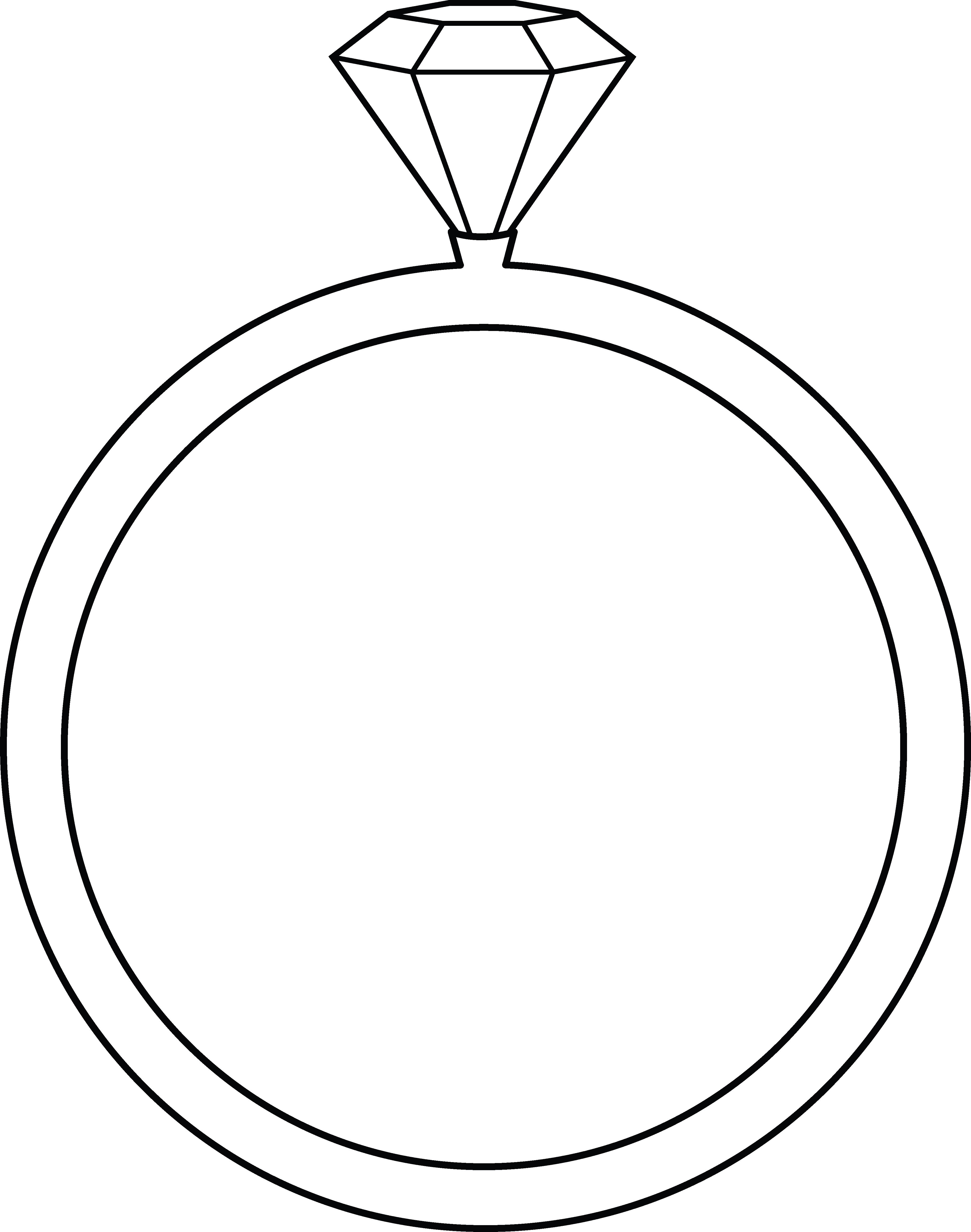 4098x5200 Diamond Ring Line Art