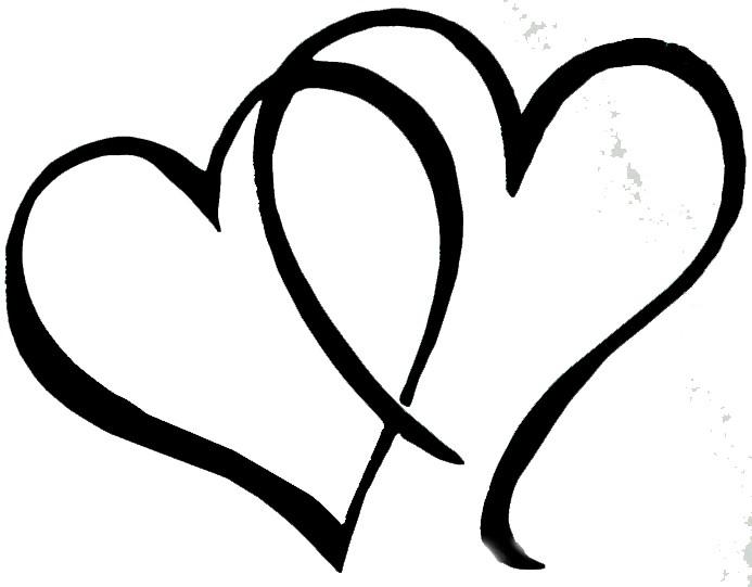 693x541 Double Heart Shape Clipart