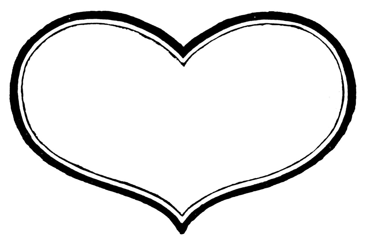 1283x862 Heart Clipart Black And White