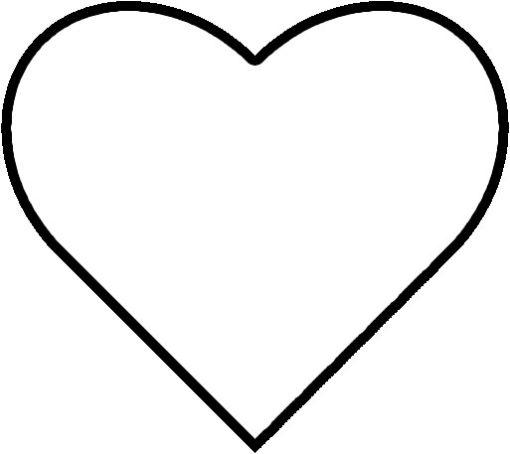 510x454 Heart Template