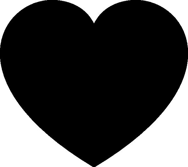 600x534 Black Heart Clip Art