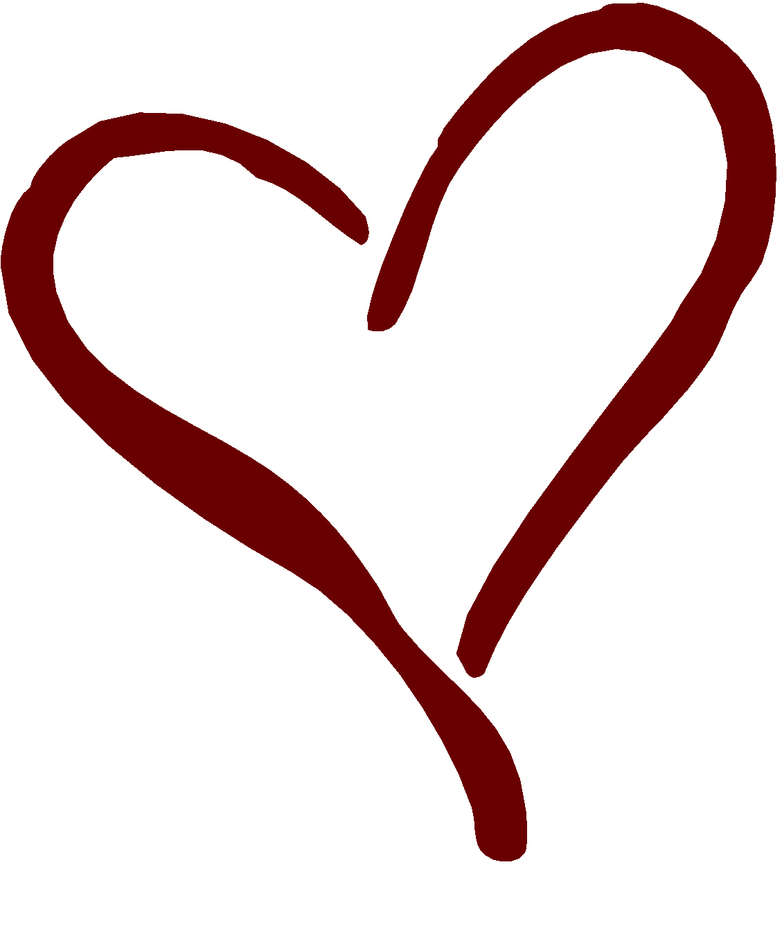 1129x1342 Black Heart Clipart
