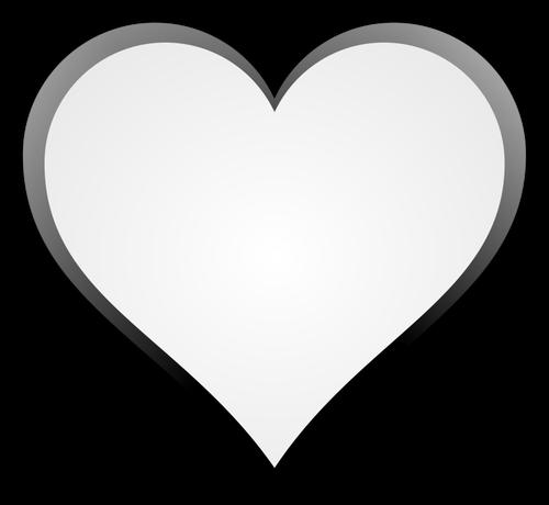 500x460 Black And White Symmetrical Heart Shape Public Domain Vectors