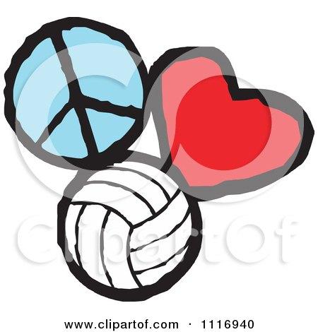 Volleyball svg | Volleyball Heart svg | Volleyball Silhouette | Vector |  Clipart | Svg Files | Png | Eps | Dxf | Pdf | Cricut | Cut File