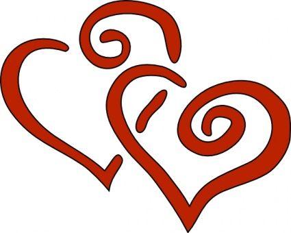 Heart Swirl Clipart