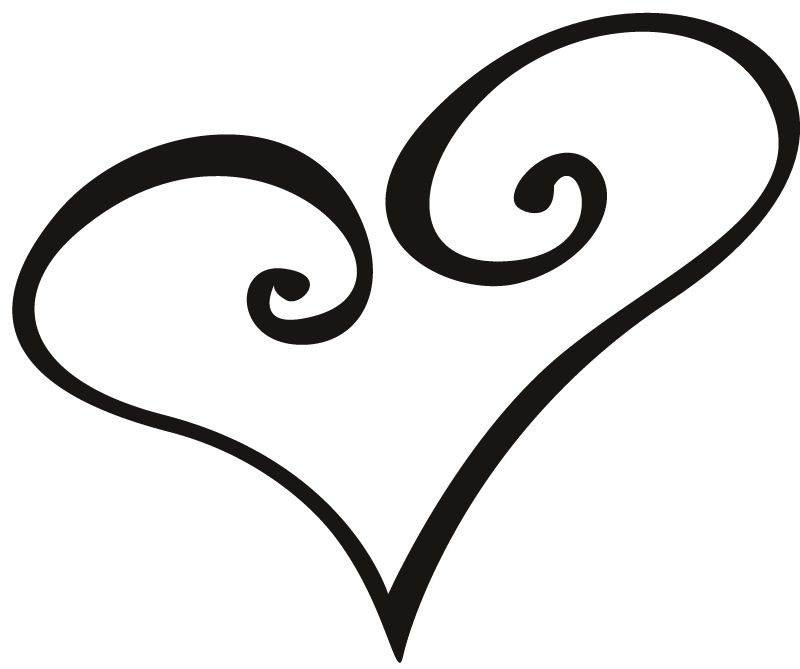 Love Tattoo Outlines: Heart Tattoo Designs Clipart