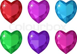 320x223 Diamond Heart Shape, Vector Format For Valentine Or Wedding