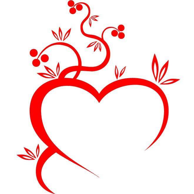 660x660 Heart And Flower Vector Graphics