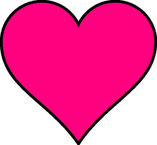 600x556 Pink Heart Clipart