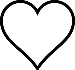 300x279 Plain Heart Clip Art