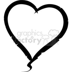 300x300 Royalty Free Black Hearts 381698 Vector Clip Art Image