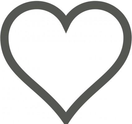 425x398 Vector Heart Icon (Deselected) Vector Clip Art