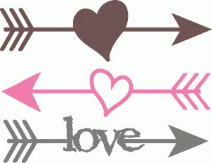 Heart arrow. With clipart free download