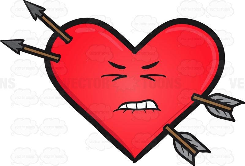 Heart With Arrow Clipart | Free download on ClipArtMag
