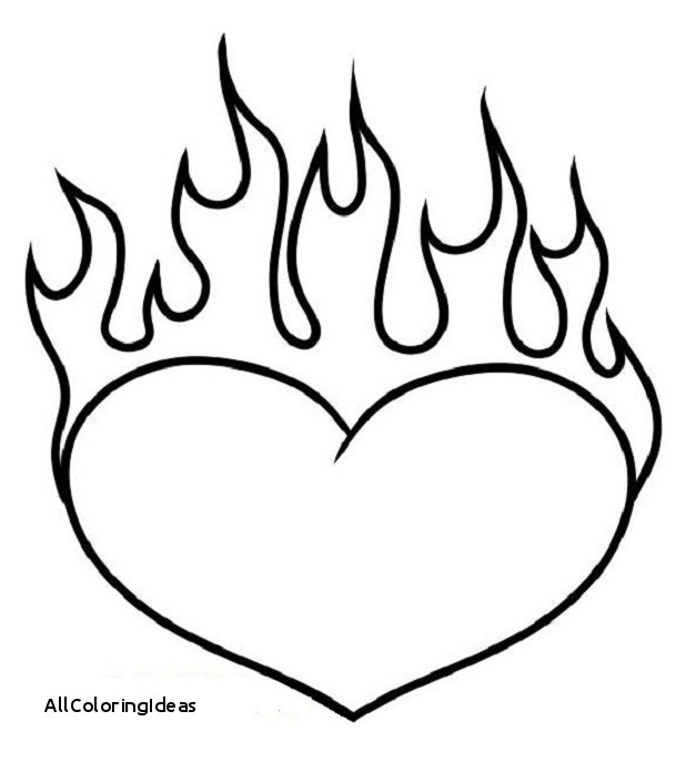 heart with flames coloring pages free download best