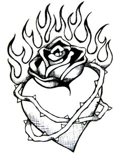 236x313 Hearts On Fire Coloring Pages Murderthestout
