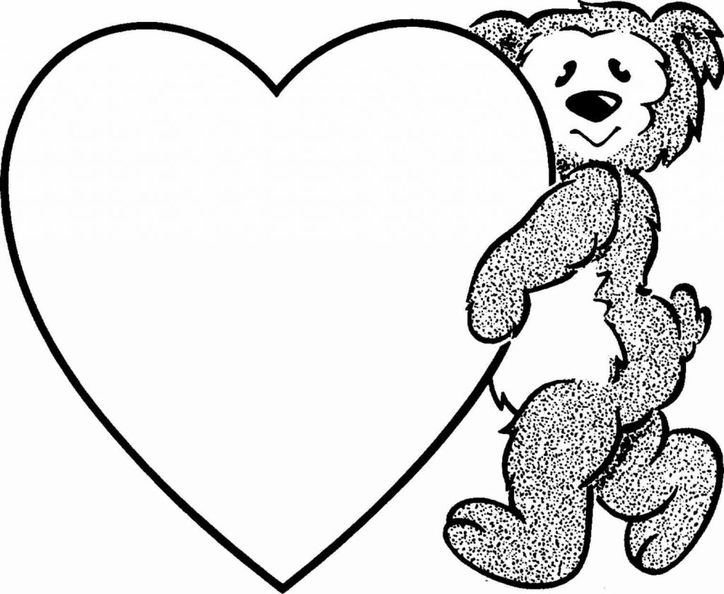 Heart With Flames Coloring Pages | Free download best Heart With ...