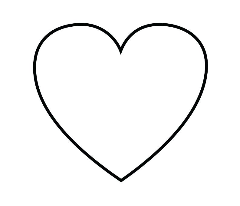 heart with flames free coloring pages